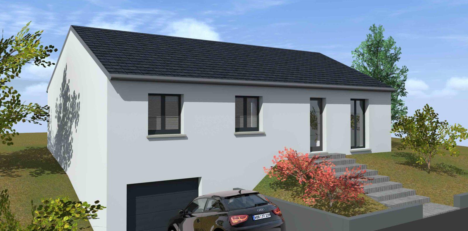 Vente De Plan De Maison Avec Terrain En Pente
